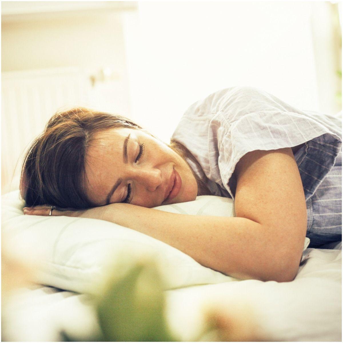 woman sleeping good