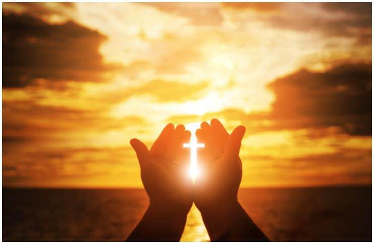 hands cross energy sun