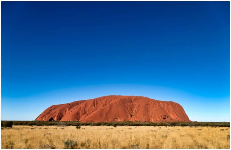 The plateau of Uluru, Australia
