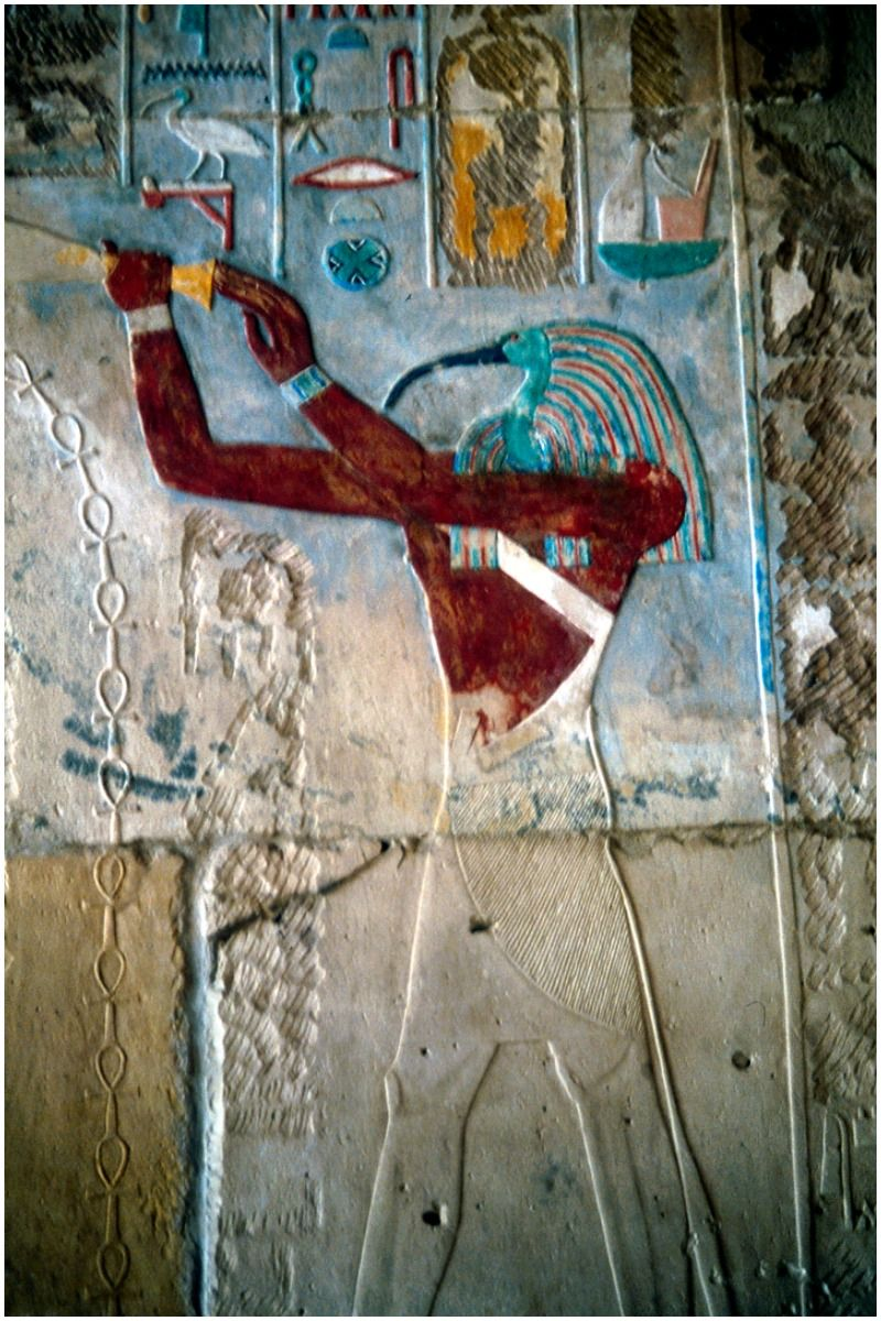 Ancient Egyptian Ibis-headed god Thoth