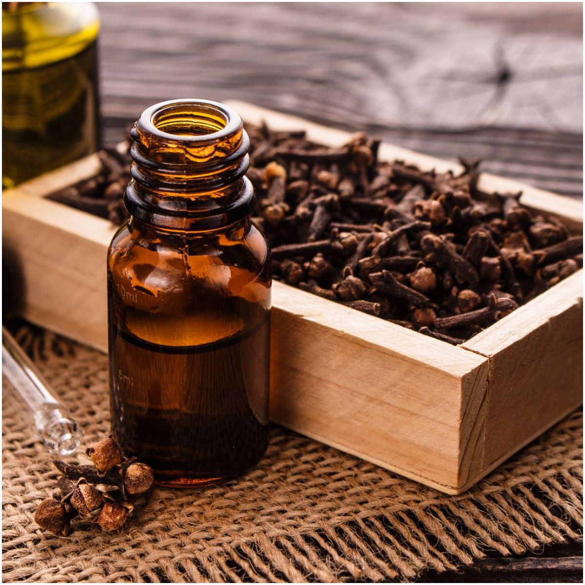Clove essential oil for good luck