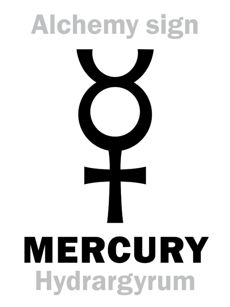 Mercury alchemy symbol sign