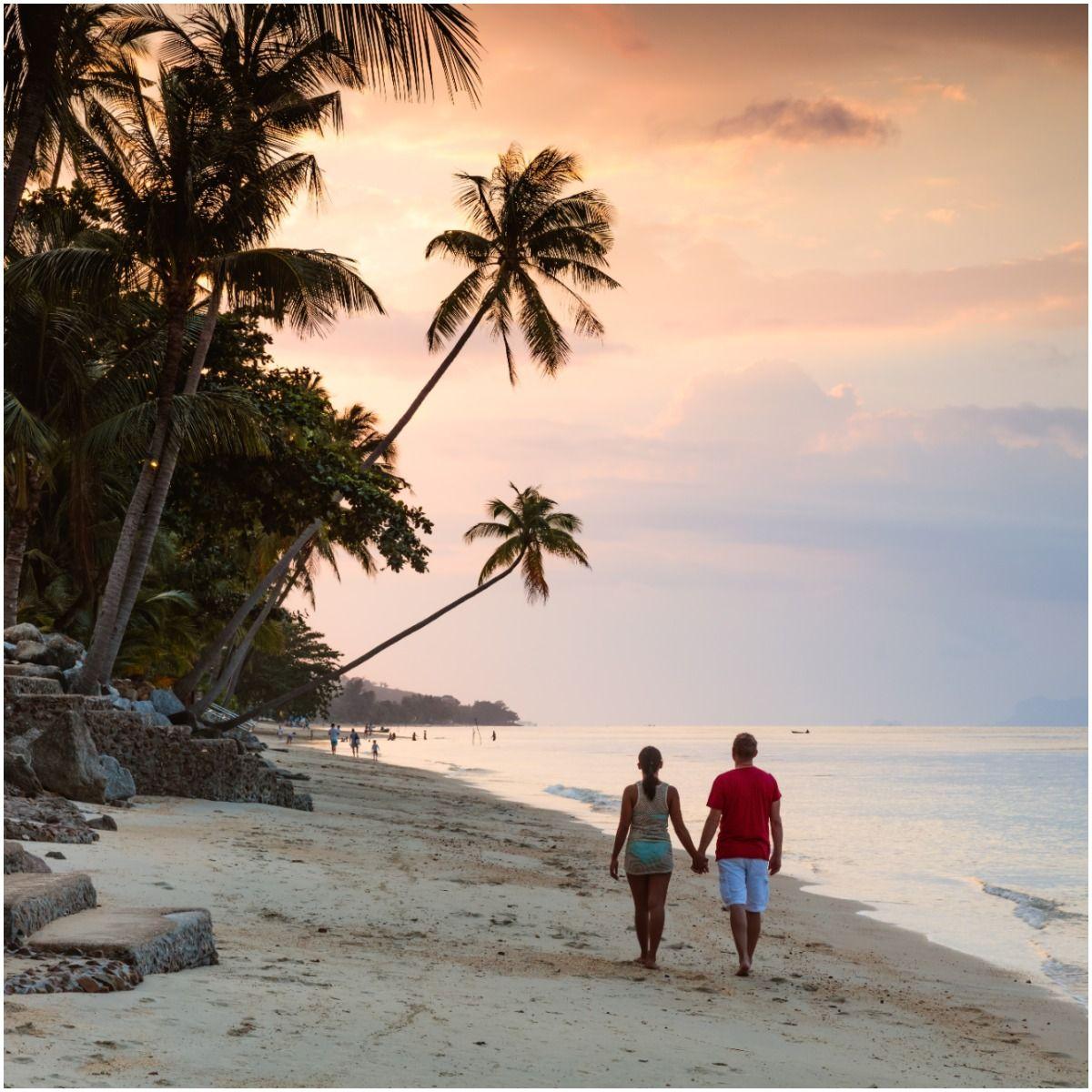 Go for a stroll at the beach